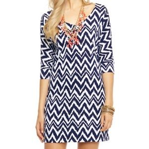 Lilly Pulitzer Eliza Navy Get Your Chev On Dress
